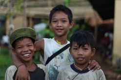 Mangyan children take a break from running around and playing to pose for our camera. (Photo Mark Ambay III)