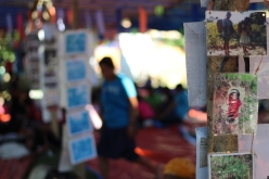 Photos depicting Mangyan lives as well as the struggles they currently face were pinned up in areas all over the activity venue. (Photo Mark Ambay III)