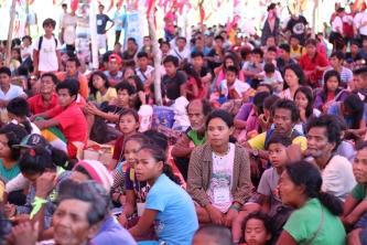 Mangyan men, women and children during the activity proper. (Photo Mark Ambay III)