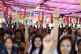 Mangyans and non-Mangyans dance to the tune of One billion Rising.